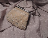Vintage Liz Claiborne knitted purse with metal purse frame