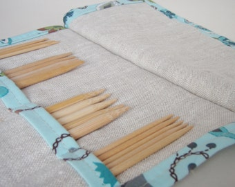 Knitting Needle Case, Mini DPN Holder, Knitter Gift