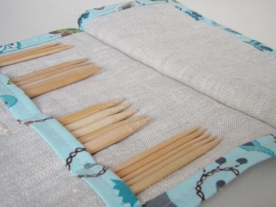 Knitting Needle Case, Mini DPN Holder, Knitter Gift