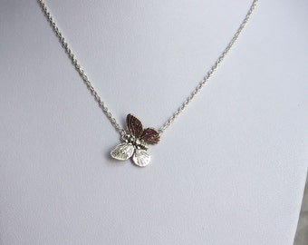 Butterfly Necklace, butterfly choker, butterfly charm necklace, bridal gift