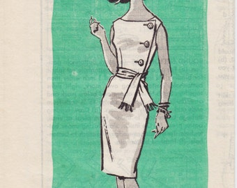Vintage Pattern Mail Order - Anne Adams 4968 Dress 60s Size 11 B31.5