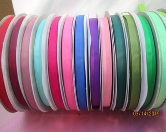 "Roll of Grosgrain Ribbon   3/8"" Wide   50 yards   Less than  .06 a yard"