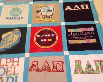 6 Tshirts  perfect baby quilt size