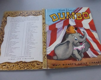 Walt Disney's Little Library  Walt Disney's Dumbo Vintage Little Golden Book