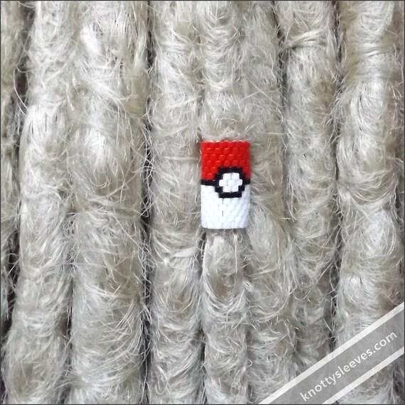Dreadlock Bead Dread Accessory Loc Jewelry Peyote Stitch Dread Sleeve with Pokeball