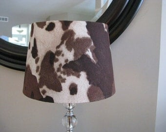 Lamp shade Western pony hide
