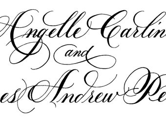Custom Calligraphy Business Cards By Dellacarta On Etsy