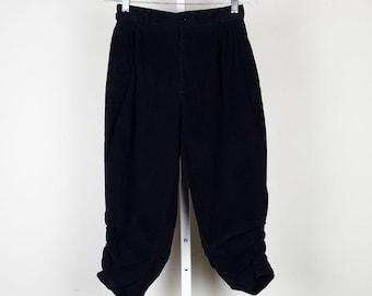 Sasson Black Corduroy Knicker Pants 39 Misses XS S
