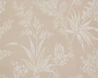 1920s Vintage Antique Wallpaper Ferns and Leaves on Beige by the Yard--Made in Germany