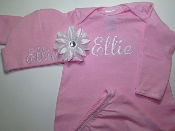 Baby Girl Clothes Personalized Baby Girls Clothing Gown with