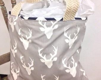 Tote, deer tote, large tote, purse, antler tote, antler bag, deer bag, rustic tote, trendy tote, bag, purse, summer tote, beach bag, beach