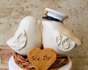 U.S. Marine Cake Topper in Ivory Glaze