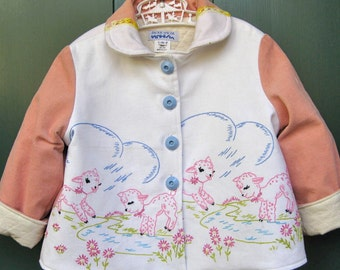 Size 5 Baby Lamb Embroidered Jacket