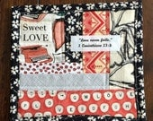 Love Scripture Mug Rug Snack Mat