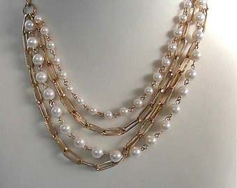 ON SALE was 16.99 Vintage White Pearl Necklace