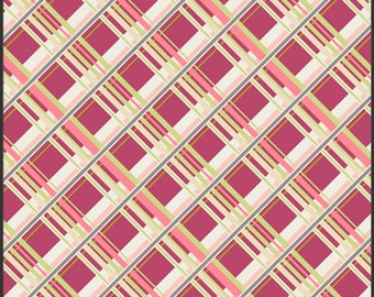 Art Gallery Pat Bravo, Coquette - Plaid Passion in Cherry CO-9206 100% Quilters Cotton Available in Yards, Half Yards and Fat Quarters