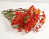 Orange Flame Floral Supply Flowers Mini Silk 1:12 Dollhouse Miniatures