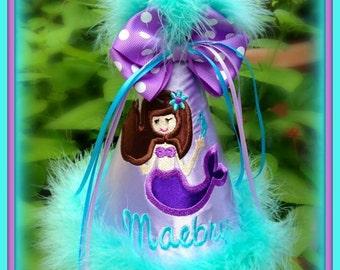Mermaid Birthday Hat, Mermaid First Birthday Hat, You Choose Colors,  by GINGHAM BUNNY