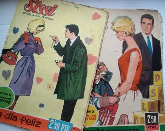 FOUND IN SPAIN -- Two editions of Sissi pop comic book - 1960s Spain
