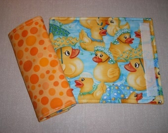 Car Seat Strap Covers . Reversible . Rubber Duckies