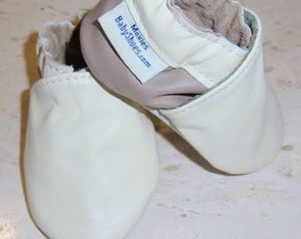 soft soled baby shoes , two tone leather children shoes, cream leather booties, handmade toddler cream shoes