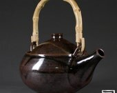 Stoneware Teapot with Bamboo Handle