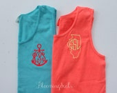 Monogrammed Tank Top Comfort Colors Apparel Personalized Gifts For Men and Women
