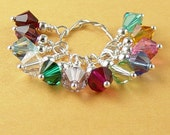 Swarovski Crystal Beads 12 6mm CHOICE Bicone Dangle Drop Birthstones Silver Wire Wrap 5328