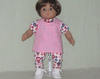 American Girl Bitty Baby Doll Tee Shirt Leggings and Cover up