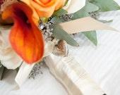 Vintage Theme Bridal Bouquet Locket, Wedding Keepsake