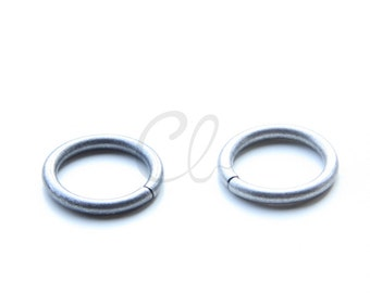6pcs Antique Silver Plated Brass Base Opened Jump Rings-20x2.6mm (1261)