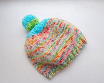 Hand Knit and hand dyed hat