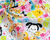 Disney Character  Disney tsum tsum fabric Print 50 cm by 53 cm or 19.6 by 21 inches FAT QUARTER
