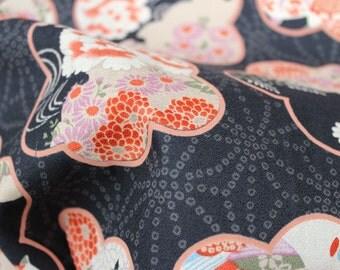Japanese kimono style Print fabric half meter (HAKO26A)