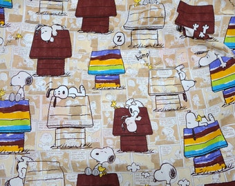 Peanuts Worldwide LLC Licensed fabric fabric Snoopy print Japanese fabric 100  cm by  106  cm or 39  by 42  inches one meter