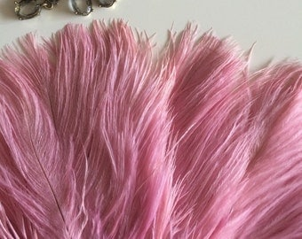 DELICATA OSTRICH PLUMES  ,  Vintage Pink, Double Ply  /  2019