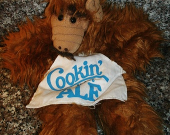 "1988 Alf Puppet – ""Cooking with ALF"" Chef Hand Puppet Moustache"