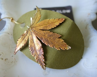 Vintage Natural Fern Brooch from the Enchanted Forest | Copper Pin | Natural History | Preserved Leaf Pin | Autumn Jewlery