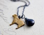 Black Sheep Necklace Onyx Spinel Lamb Pendant