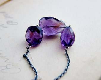 Amethyst Necklace, Gemstone Necklace, February Birthstone, Birthstone Necklace, Gemstone Jewelry, Amethyst Jewelry, Purple Gemstone