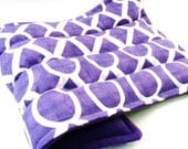 LARGE Hot Pack Cold Pack, Microwave Heating Pad, Reusable Herbal Heat Pack for Back, Hips, Recovery Gift for Relaxation - purple