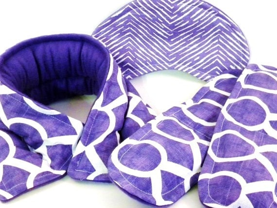 Heating Pad Relaxation Kit, Spa Treatment, Rice Heating Pads Cold Packs, Heated Neck Wrap, Eye Pillow Personal Gift for Bestie purple