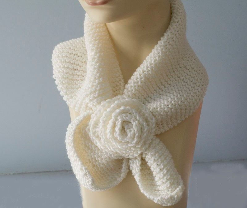 PDF Scarf Knitting Pattern Download Neck Warmer Keyhole