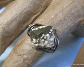 Ocean Jasper Ring, Gift for Woman, Handmade Custom Ring, Diamond Facet Gem Ring, Unique Stone Ring, Custom Sized Ring, Handmade Gifts woman