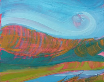 Canyon Dreams 36. Original abstract landscape oil painting