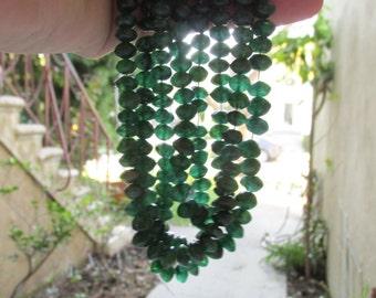 Vivid Emerald Green Adventurine Saucer Rondelle Beads 7mm
