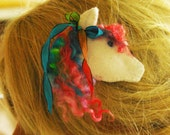 Girls Pony Of A Different Color Clip curly Locks Mane Horse