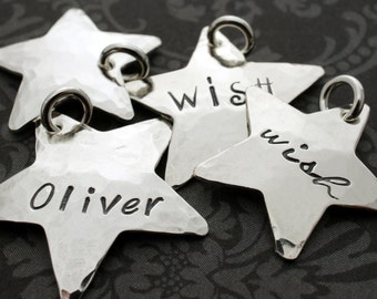 Personalized Sterling Silver Star Charm - EWD Extras and Add Ons