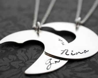Grandmother's Heart Necklace Add-On - Personalized Three Generation Necklace Set in Sterling Silver - Grandmother, Daughter, Granddaughter