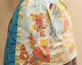 Snow White and Seven Dwarves Apron - Handmade and OOAK - From Vintage Walt Disney Sheet